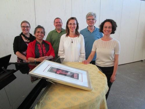 v.l.: Carola Maute, Suzanne da Costa-Kunz, Ulli Bock, Dorothea Koller, Josef Hugenschmidt, Andrea Freisen